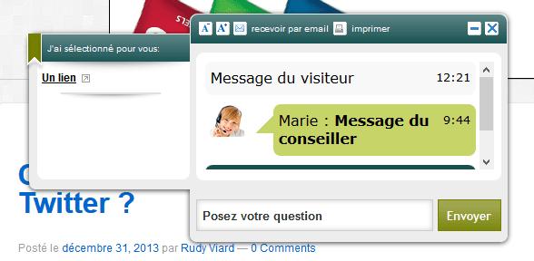 pop-up de chat