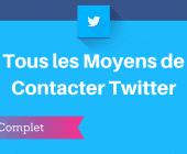 contacter twitter