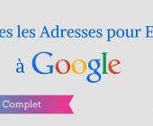 écrire à google