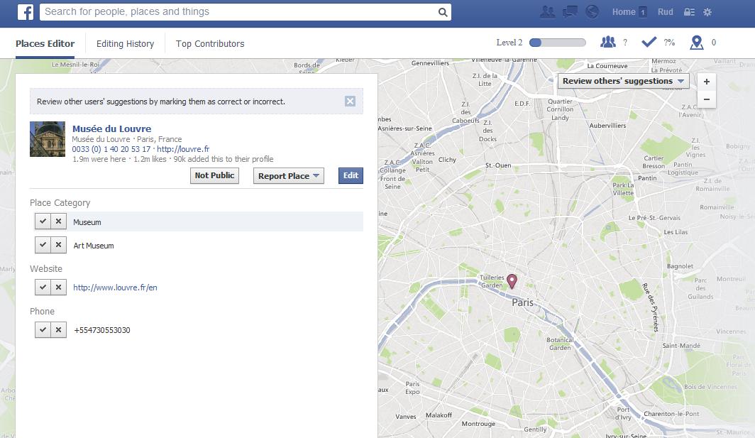 facebook places editor