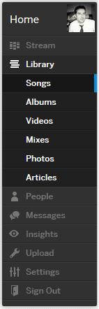 interface myspace