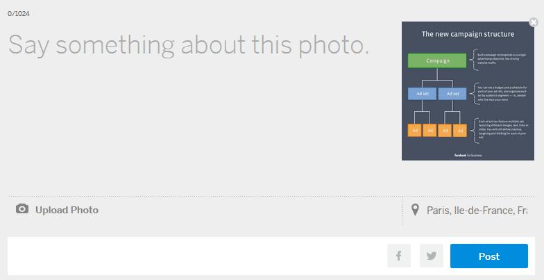 interface de publication sur myspace