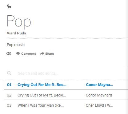 playlist myspace