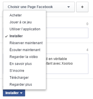 bouton call-to-action facebookbouton call-to-action facebook