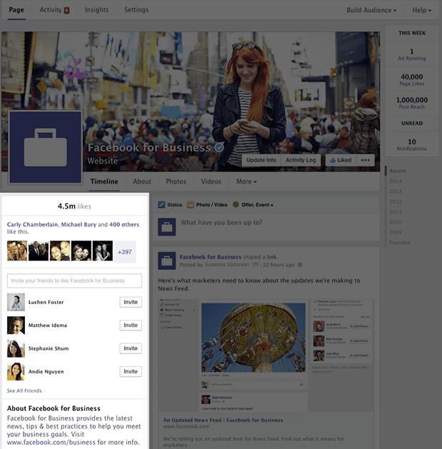 module d'invitation page facebook