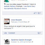 commentaires fanpage facebook
