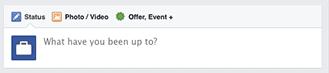 interface de publication page fan facebook