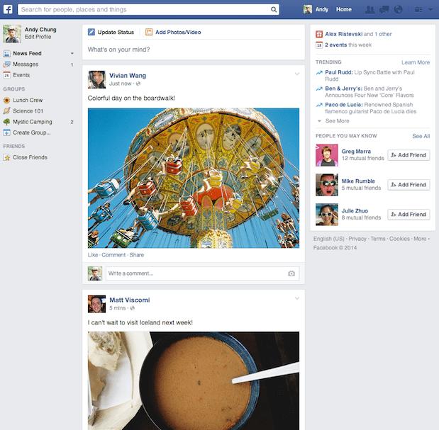 nouveau facebook