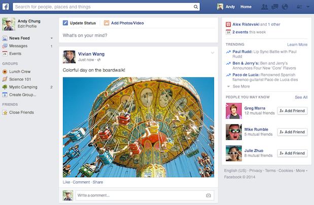 le nouveau facebook