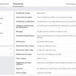 options de gestion page facebook