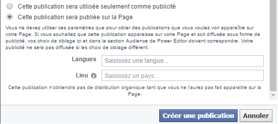 post appel à l'action facebook