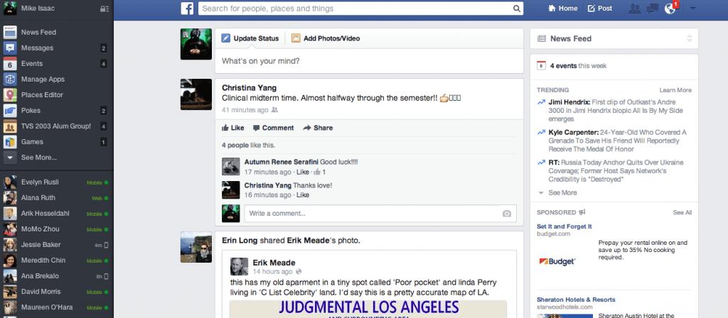 vieux design facebook