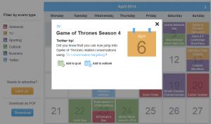 calendrier rédactionnel twitter