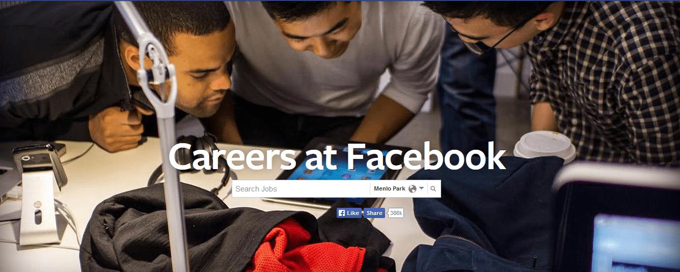 find a job at facebook