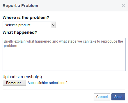 not working facebook