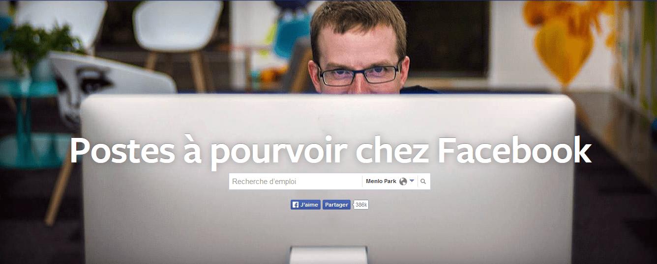 trouver un emploi facebook