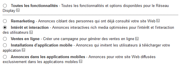 campagne adwords interet interaction