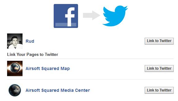 connecter facebook à twitter