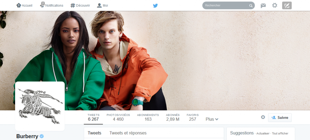 couverture twitter burberry
