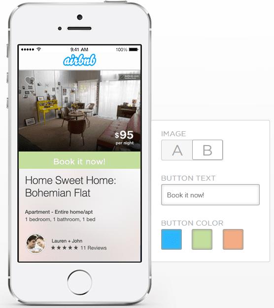 a/b testing application mobile