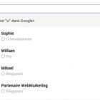 rechercher un contact google plus