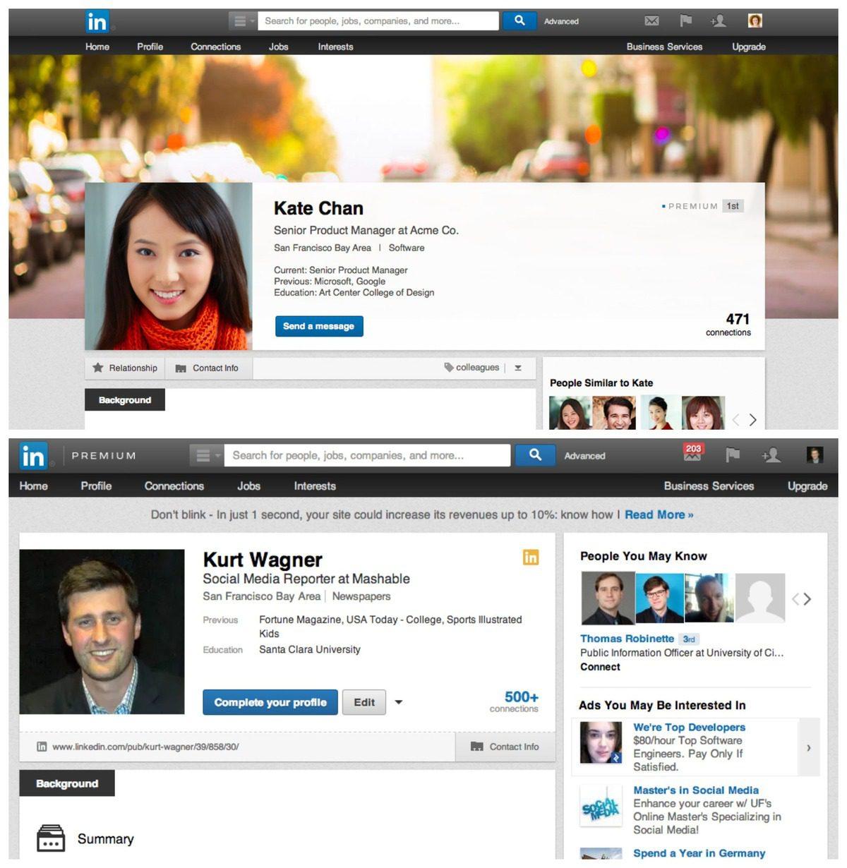 nouveaux profils linkedin