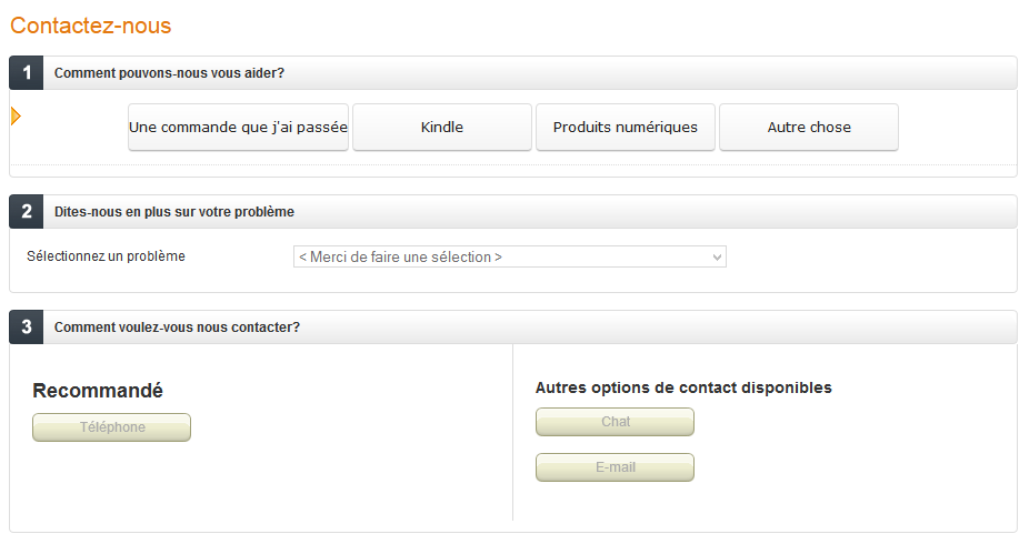 comment contacter amazon