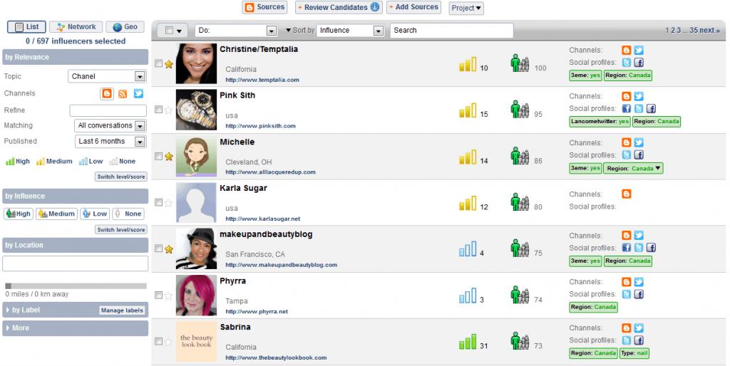 contacter blogs