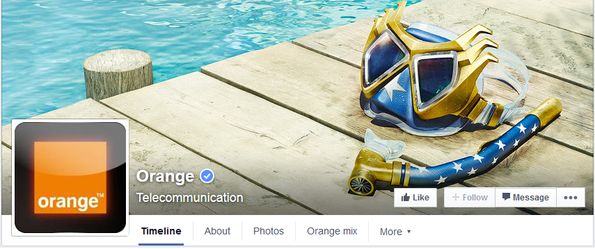 couverture facebook orange