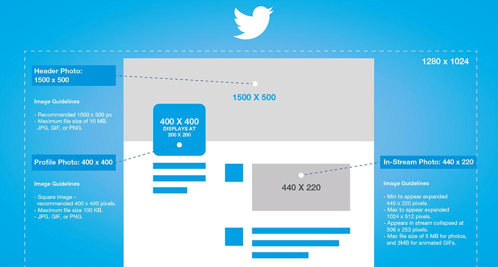 logo twitter dimension