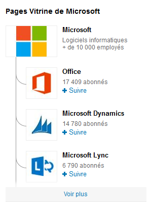 pages vitrine linkedin