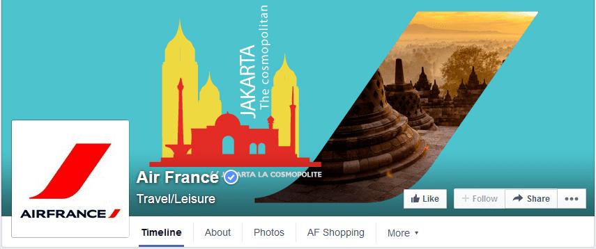 photo couverture facebook air france