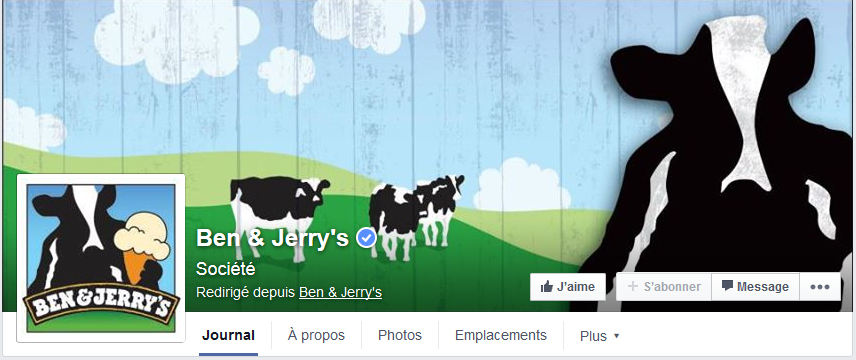 photo couverture facebook ben & jerrys