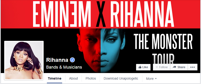 photo couverture facebook rihanna