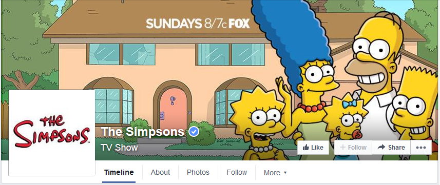 photo couverture facebook simpsons