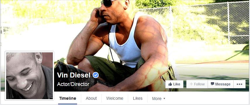 photo facebook vin diesel