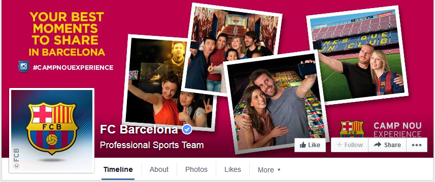 photo page facebook fc barcelone