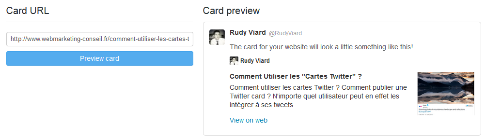 validation twitter card