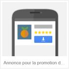 annonce pour la promotion d'applications mobiles sur google