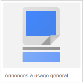 annonce d'usage général google