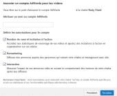 associer votre chaîne youtube à votre compte adwords : lier votre compte Youtub