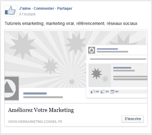 call-to-action publicite facebook