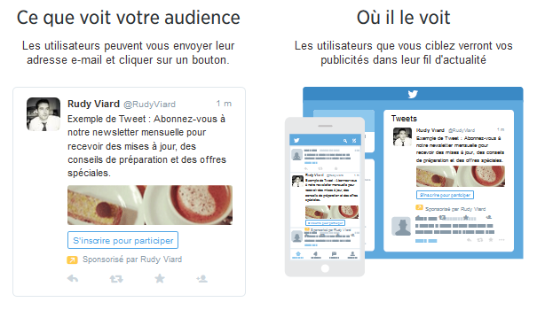 campagne leads twitter