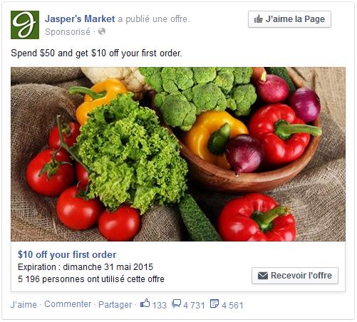 coupon facebook