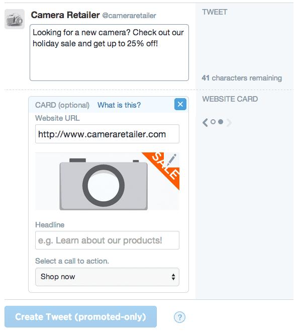 creation tweet sponsorisé