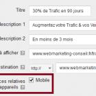 créer annonce textuelle mobile