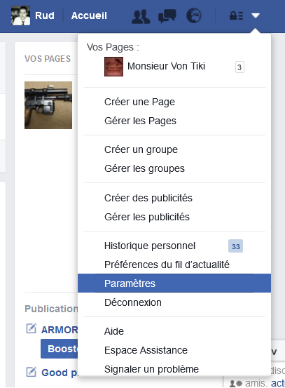 désinscription facebook