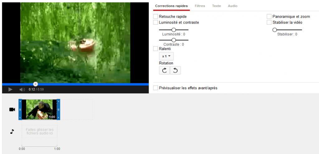 editeur video youtube