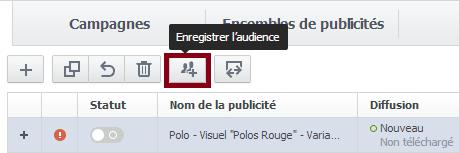 enregistrer une audience facebook