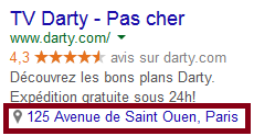 extension de lieu google adwords
